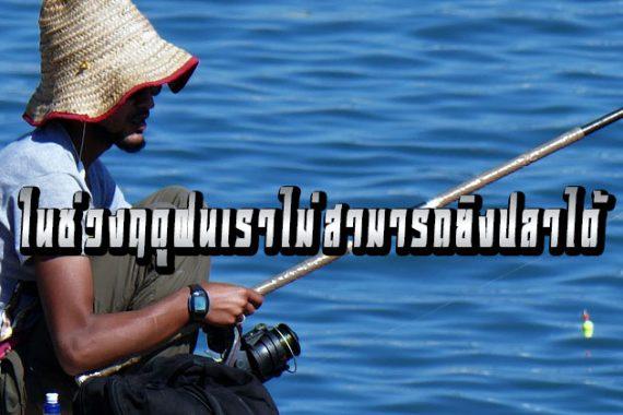 ในช่วงฤดูฝนเราไม่สามารถยิงปลาได้